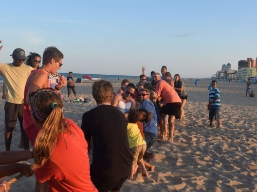 Photo of Free Beach Family Olympics Tug of War