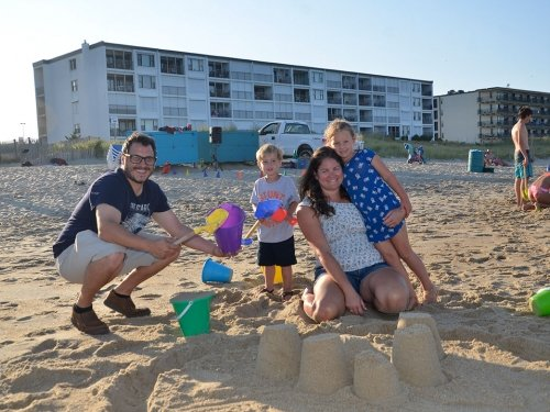 Photo of Free Beach Family Olympics Sand Castles